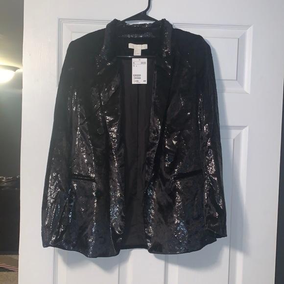 Velvet Black Sparkly Blazer - NWT
